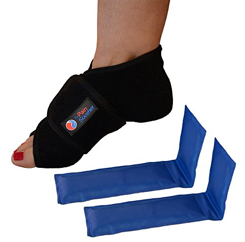 The Pain Soother Reusable Hot Foot & Cold Ice Pack Wrap for Plantar Fasciitis, Heel Spurs, Arch Pain, Sore Feet, Swelling - Extra Gel Pack Included (Small / Medium) HSA or FSA Eligible