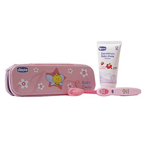 Chicco 023180 - Set dentale, Rosa 12 mesi+