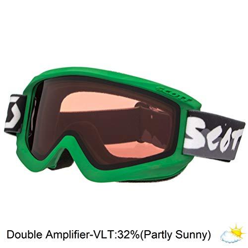 Scott Youth Agent Junior Winter Snow Goggles - Double Amplifier Lens - 239997 (Green - Double Amplifier Lens)