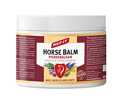 REFIT Pferdebalsam 500 ml XXL | Extra stark Schmerzgel | Sofortiger Effekt | Kräutersalbe aus weltberühmtes Karlsbad Spa | natürliche