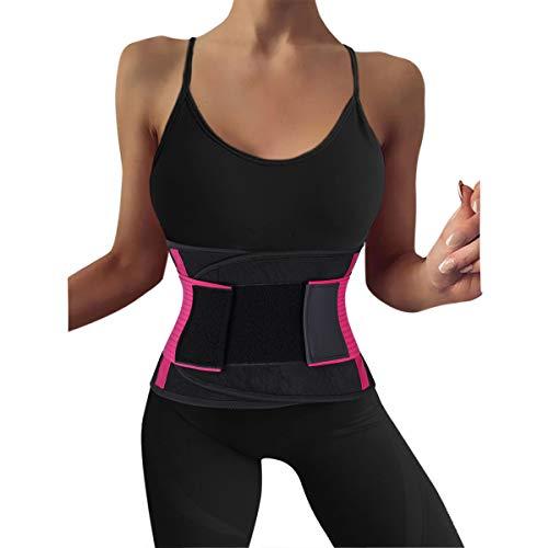 Cabeen Faja Reductora Adelgazante Mujer y Hombre,Faja para Gimnasio,Cinturón Lumbar Abdominal Adjustable para Sudar y Hacer Deporte,Fitness y Proteger los lumbares
