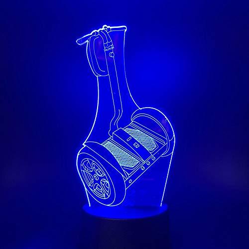 Baobaoshop USB 3D LED luz Nocturna luz del Coche Regalo para niños Cambio de Color Regalo Wow lámpara de Mesa Dormitorio luz Nocturna 3D led luz Nocturna