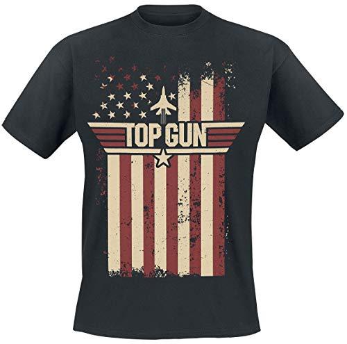 Top Gun Flag Männer T-Shirt schwarz XXL 100% Baumwolle Fan-Merch, Film, Nachhaltigkeit