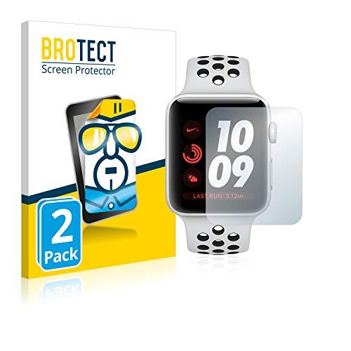 brotect Pellicola Protettiva Compatibile con Apple Watch Nike Plus Series 3 (42 mm) Pellicola Trasparente (2 Pezzi) Anti-Impronte