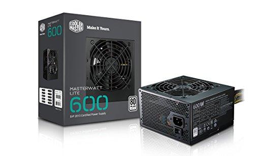 Cooler Master MPX-6001-ACABW-EU MasterWatt Lite 600W Alimentatore Non-Modulare 80 Plus Standard 230V EU