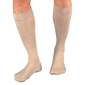 Jobst Relief Medical Legwear Compression Stockings Knee High Closed Toe Beige 20-30 mmhg X-Large