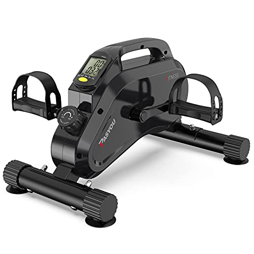 PASYOU Mini bicicleta estática pedales estaticos con control magnético para entrenamiento de brazos y piernas,Mini%20bicicleta%20plegableajustable en casa para hombres y mujeres con pantalla LCD