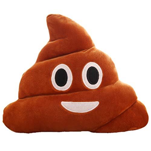 Hinder Poop Plüsch-Spielzeug, Emoji-Puppe, gefülltes Kissen mit Smiley-Gesicht