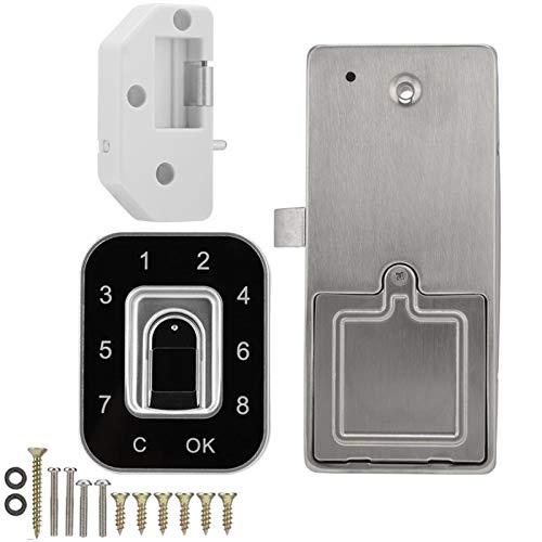 Cerrar con Llave G12 Contraseña de Huellas Dactilares Inteligente Lock Electronic Block Smart Archivo Cerradura USB Recargable para cajón Zapatillas Gabinete Armario Material de Metal