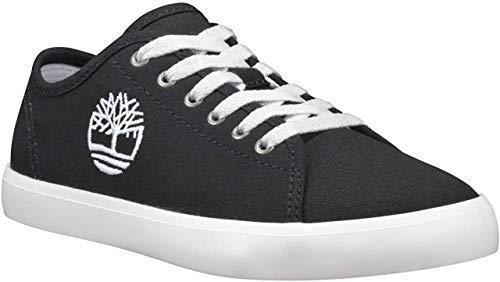 Timberland Unisex-Kinder Newport Bay-Canvas Sneakers, Schwarz (Jet Black), 33 EU