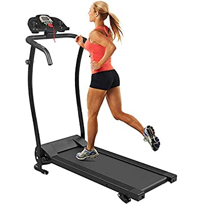 ICOCO HSM-T08B 500W Folding Treadmill Motorised Electric Running Machine Incline Fitness Equipment with LCD Display Silent Motor for Home Exercise (Black) ¡ by oHholly