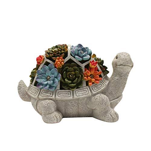 Schildkröte Garten Figuren Outdoor-Dekor, mit Lotus 7 LEDs, Outdoor Statuen Schildkröte Figuren, LED Solarbetriebene Skulptur Kunst Ornamente Gartenschild Gartenfigur für Garten Dekoration