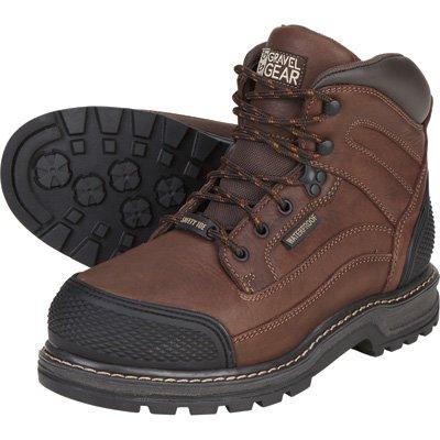 Gravel Gear Men's Waterproof 6in. Steel Toe Work Boot - Brown, Size 8