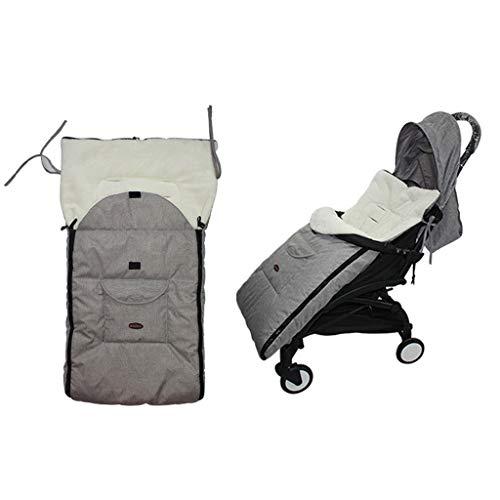 WE-WHLL Saco para pies Universal para bebé Cozy Toes Delantal Liner Buggy Cochecito para niños pequeños Mezclas de algodón Cochecito Bolsa para Dormir Saco para pies Invierno Cálido 0-3T-Gris