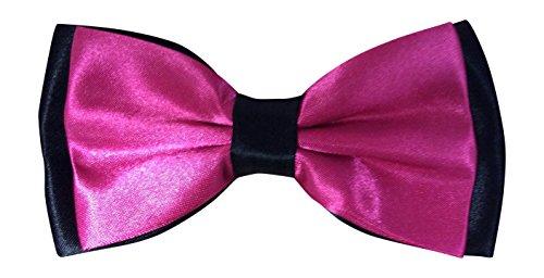 Satin pour homme rose vif et queue de pie noir luxury réglable rose vif & noir)