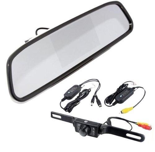 BW Kit DIY vue arrière sans fil infrarouge arrière de voiture caméra de recul W/10,9 cm Miroir Moniteur