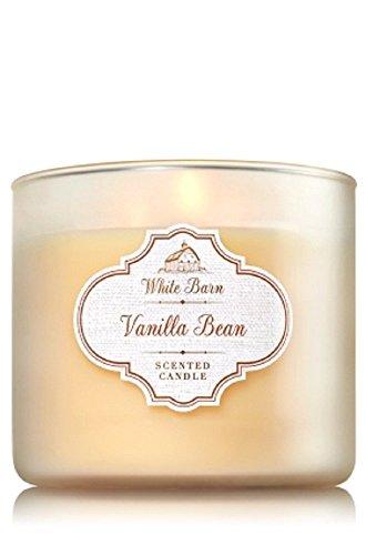 Bath & Body Works White Barn Vanilla Bean 3-Wick Jar Candle, 14.5oz by White Barn