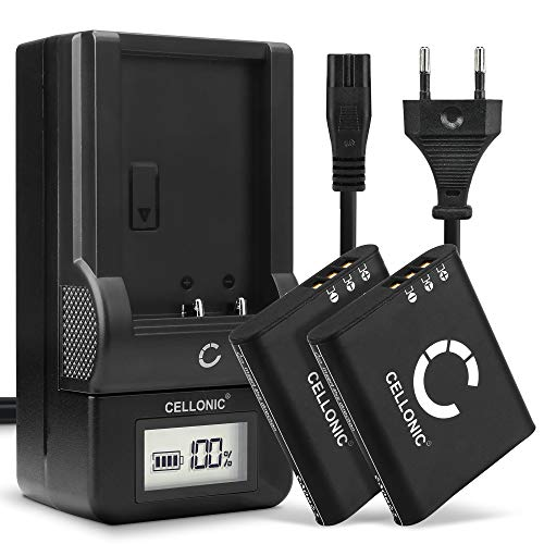 CELLONIC 2X Batería Premium Compatible con Ricoh G900 G900SE GR III WG-6, DB-110 1200mAh + Cargador bateria Repuesto Pila