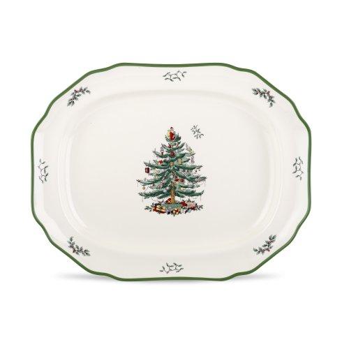 Spode Christmas Tree Sculpted Platter, 19-Inch