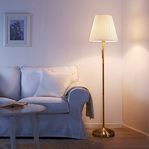 ZIXUANJIAXL Stehende Stehlampen Europäische Retro Kreative Stehlampe Wohnzimmer-Sofa Study Leselampe, European Vertical Lampe, Nordic Led Stehlampen, Augenschutz Lampen Bodenlampen (Color : Beige)