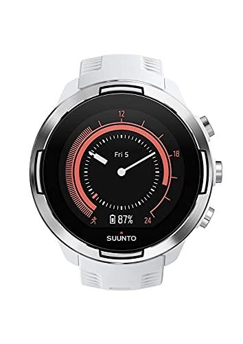 Suunto 9 Baro Reloj deportivo GPS con batería de larga duración y medición de frecuencia cardiaca en la muñeca, Sin correa de pecho, Blanco