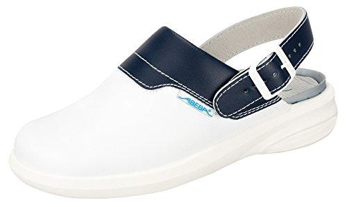 Abeba Easy Clogs weiß/blau, Weiß/Blau, 39 EU