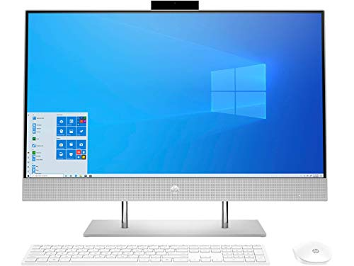 HP All in One PC 27-Inch FHD IPS with Alexa Built-in (AMD Ryzen 7 4700U/16GB/1TB PCIe NVMe M.2 SSD/Win 10/MS Office 2019), 27-dp1222in