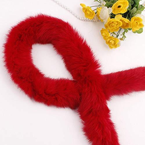 Cinta peluda, accesorio de pelo de conejo artificial, grueso y suave al tacto, para borde de ropa, zapatos, accesorios de sombrero, accesorios de bricolaje