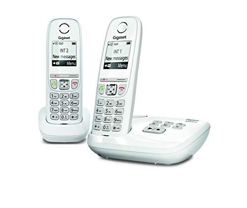 Gigaset AS470A DUO Kabelloses Festnetz - Anrufbeantworter - 2 Mobilteile - Weiß, Französisch