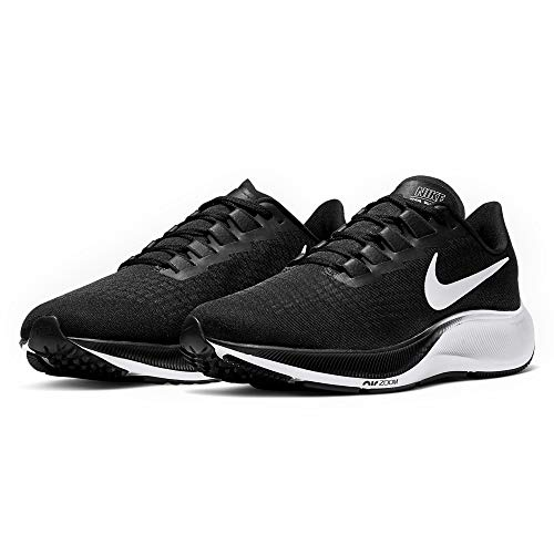 Nike Mens Air Zoom Pegasus 37 Running Shoe, Black/White, 9 US