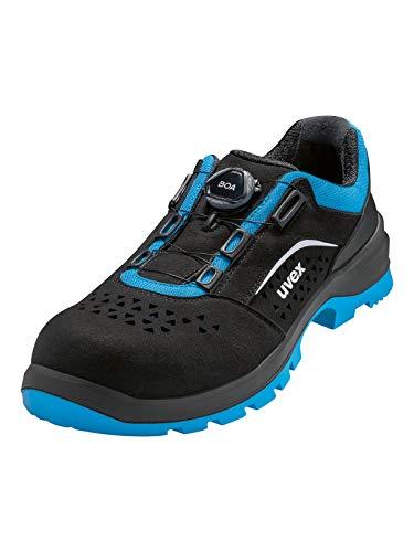 Uvex 9558 9558247 S1P - Zapato de seguridad (talla 47), color negro y azul
