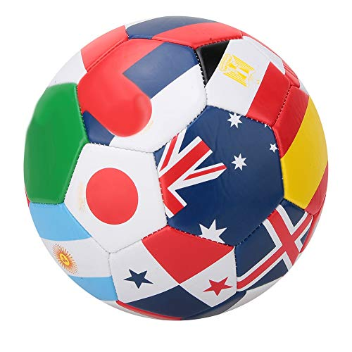 Wolfgo Football-National Flag Pattern Outdoor Play Training #5 Soccer Ball 22cm / 9inch Sport Match Football