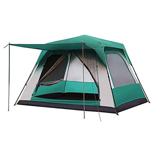 YXDEW Tents/Tent with Screen Room Super Large Automatic Tent Thick Rainproof Outdoor Tent Home 4-5 People Camping Tent Tent for Camping with camping (Color : Green)