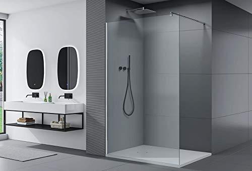 Paroi de douche fixe latérale en verre, EX101, largeur sélectionnable, Largeur:1300mm