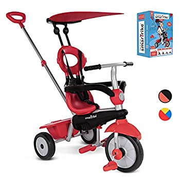 smarTrike Zoom Toddler Tricycle Push Bike – Adjustable Trike for Baby toddler infant Ages 15 Months to 3 Years