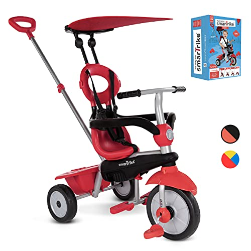 smarTrike Zoom Toddler Tricycle Push Bike – Adjustable Trike for Baby, toddler, infant Ages 15 Months to 3 Years