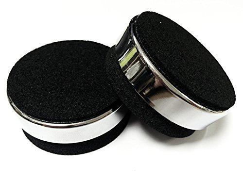 Media Seller® AB1 Resonanz Shock Absorber für HiFi, Lautsprecher und Subwoofer (4 Stück) Farbe: Chrom/Schwarz