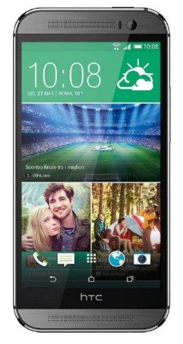 HTC One M8 32GB Smartphone Gunmetal Gray (grau-schwarz) wie NEU OVP (12,7 cm (5.0 Zoll), Super LCD3 Touchscreen, Duo Camera, 16gbm Farben) Handy
