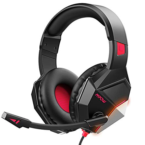 Mpow EG10 Gaming Headset for PS4, PC, Xbox One, Wired Gaming Headphones with Noise Cancelling Mic, Soft Memory Earmuffs, 3D Surround Sounds, 254G Ultral-Lightweight Over-Ear Headset