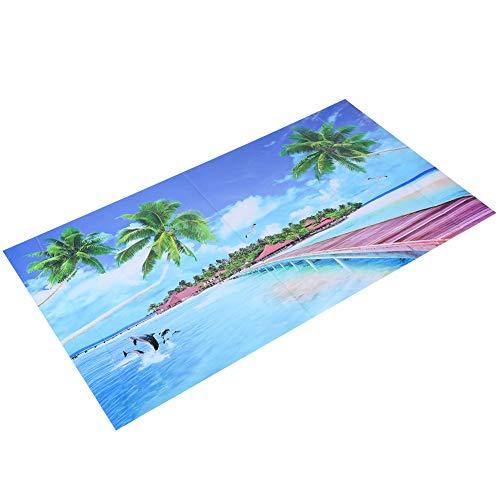 Leicht zu entfernende Malerei Wasserdichte Tapete Hintergrund, Aquarium Hintergrundbild PVC Material Büro für Aquarium Aquarium Home