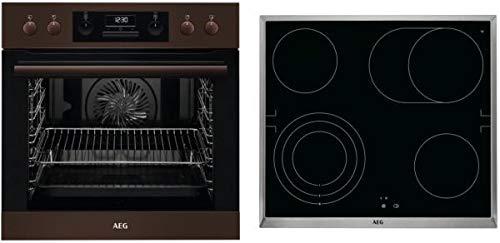 AEG HC3013DS31 - Set de hornillos de cocina, color marrón oscuro y negro