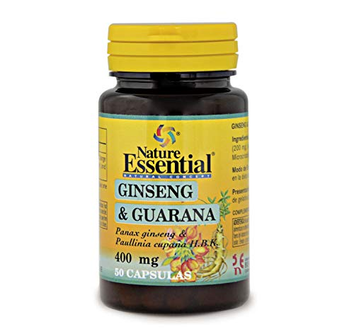 Ginseng & guarana 400 mg. 50 capsulas
