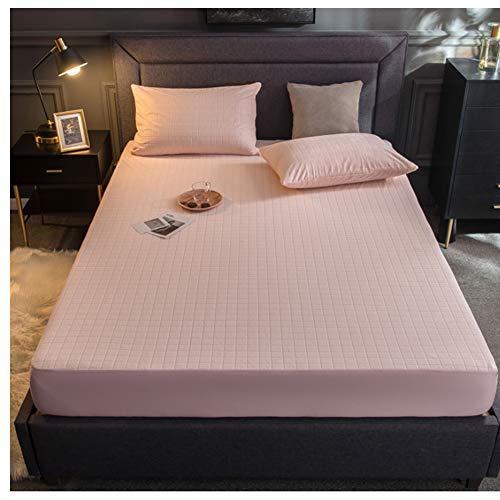 Waterdichte bedlakens grijs geruite bedhoezen TPU waterdicht materiaal enkele hoeslaken voor matrasbeschermer Cover 200x220cm roze