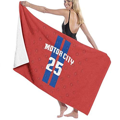Derrick Rose Jersey Detroit Pistons Motor City #1 Red Home Nba Games Toalla de baño de secado rápido toalla de playa
