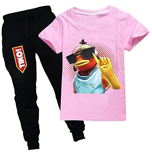 Zheart Tiko Tiko - Sudadera unisex con capucha y pantalones y sombrero para el sol, para niños y niñas