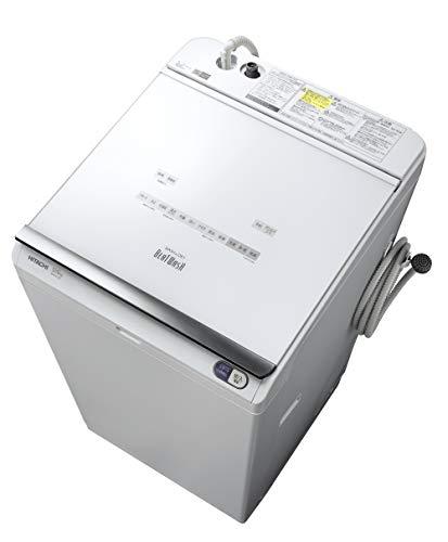 日立 タテ型洗濯乾燥機 ビートウォッシュ 洗濯12kg/洗濯~乾燥6kg 本体幅61cm 本体日本製 液体洗剤・柔軟剤自動投入 BW-DX120E W ホワイト