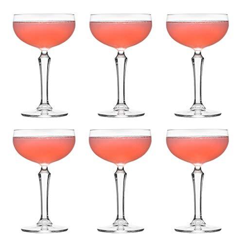 Copa de cóctel coupe SPKSY de Libbey – 245 ml / 24,5 cl - 6 unidades – Copa de champán - Resistente al lavavajillas - Excelente para una fiesta de cóctel en casa