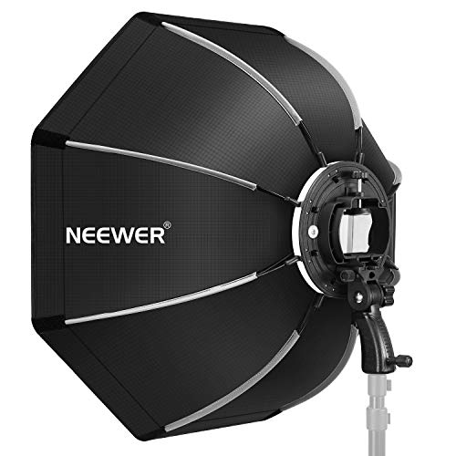 Neewer 26 inches/65 Centimeters Octagonal Softbox with S-Type Bracket Mount, Carrying Case Compatible with Camera Flash Speedlites TT560 NW561 NW565 NW625 NW635 NW670 750II, etc