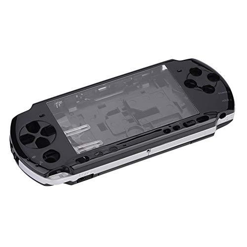 Richer-R PSP 3000ケース ゲームシェル 収納カバー PSP 3000完全ハウジング コンソールゲームケース ゲーム保護カバー PC質 軽量 保護ケース 全面保護 耐衝撃 交換用修理部品(白 透明 黒 青)ブラック