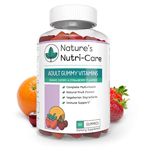 Nature's Nutri-Care Adult Gummy Vitamins - 90 Gummies - Vegetarian Gummy Multivitamin - Essential Vitamins, Antioxidants, and Minerals - Made in USA